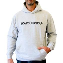 Sweat capuche hoodie homme gris CAP OU PAS CAP