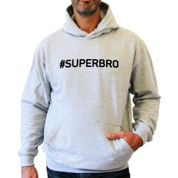 Sweat capuche (Hoodie) homme gris SUPERBRO
