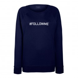 sweat femme bleu FOLLOW ME