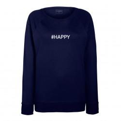 Sweat femme Bleu HAPPY