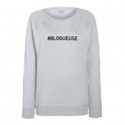 sweat femme gris BLOGUEUSE