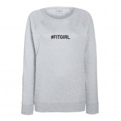 Sweat femme gris clair : FITGIRL
