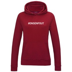 sweat a capuche femme bordeaux ON S'EN FOUT