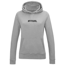 sweat capuche femme gris FIT GIRL
