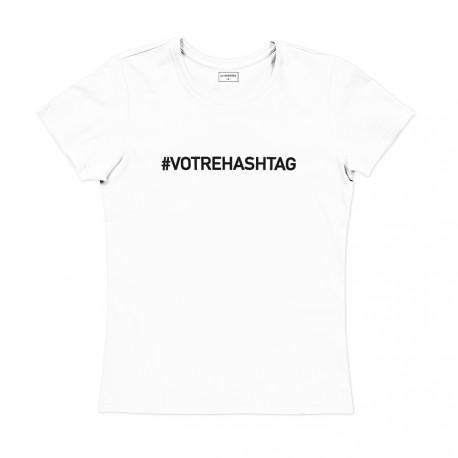 T-shirt femme blanc - CREEZ VOTRE T-SHIRT !