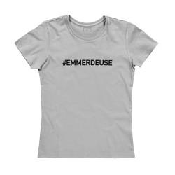 T-shirt femme gris EMMERDEUSE