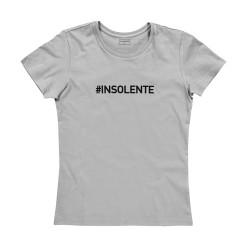 T-shirt femme gris INSOLENTE