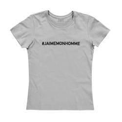 T-shirt femme gris J'AIME MON HOMME
