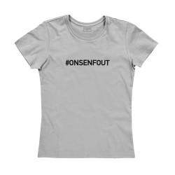T-shirt femme gris : ON S'EN FOUT