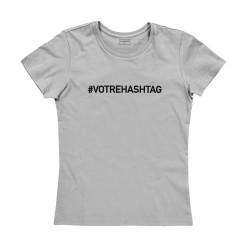 T-shirt femme gris - CREEZ VOTRE T-SHIRT !
