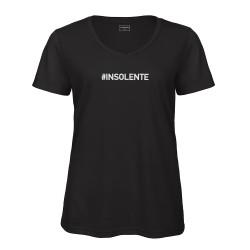 T-shirt col en V Noir INSOLENTE