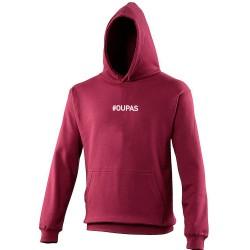 Sweat capuche hoodie homme bordeaux OU PAS