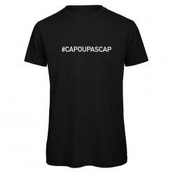 T-shirt homme noir CAP OU PAS CAP