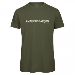 T-shirt homme kaki MAUVAIS GARCON