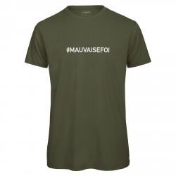 T-shirt homme kaki MAUVAISE FOI