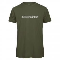 T-shirt homme kaki MEME PAS PEUR