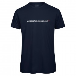 T-shirt col rond navy CHAMPION DU MONDE
