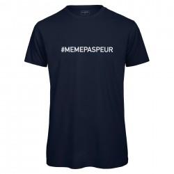 T-shirt hommebleu Navy MEME PAS PEUR