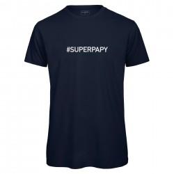 t-shirt homme bleu SUPER PAPY
