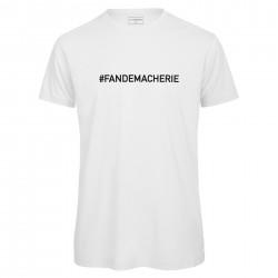 T-shirt homme blanc FAN DE MA CHERIE
