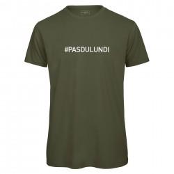 T-shirt homme kaki PAS DU LUNDI