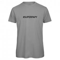 t-shirt homme gris SUPER PAPY