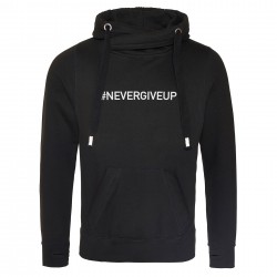 Sweat capuche premium NEVER GIVE UP
