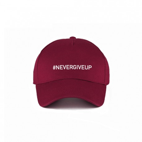Casquette NEVER GIVE UP